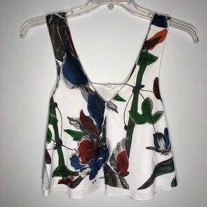 NWT Zara floral flowy layers tank top